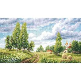 Vyšívací sada - Jarní pole