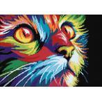 Diamond painting sada - Duhová kočka