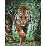 Diamond painting sada - Nebezpečný tygr
