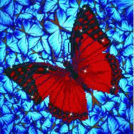 Diamond painting sada - Motýl třepetající křídly