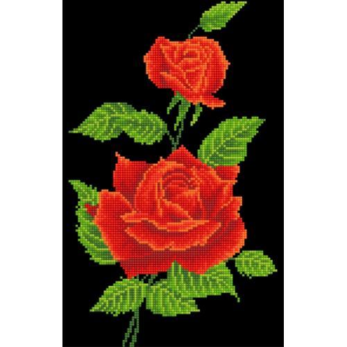 DD5.025 Diamond painting sada - Červená růže