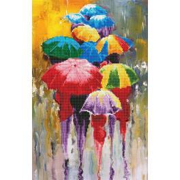 Diamond painting sada - Dešťový den