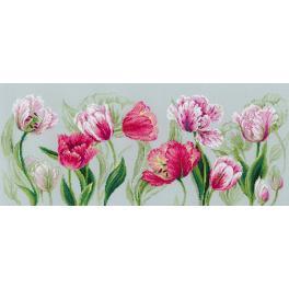 RIO 100/052 Vyšívací sada s mulinkou - Jarní tulipány