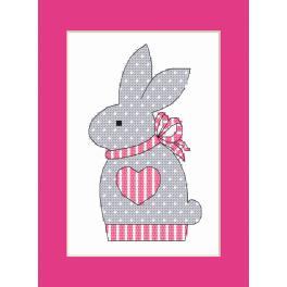 ZU 10204-02 Vyšívací sada - Přání s králíčkem