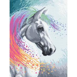 Vyšívací sada s mulinkou a podiskem - Kouzelný kůň