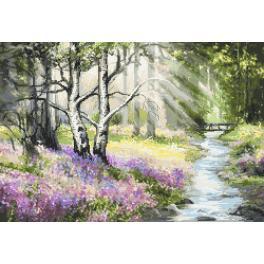Předtištěná kanava - Jarní les