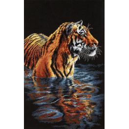 Vyšívací sada - Tygr ve vodě