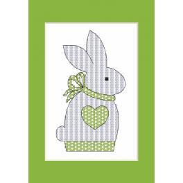 Vyšívací sada - Přání s králíčkem