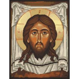 K 10166 Předtištěná kanava - Ikona - Kristus