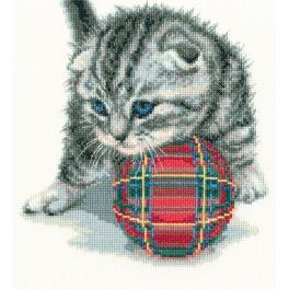 Vyšívací sada - Hravé koťátko