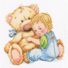Vyšívací sada - Milovaný medvídek