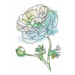 Předtištěná aida - Nádherná růže