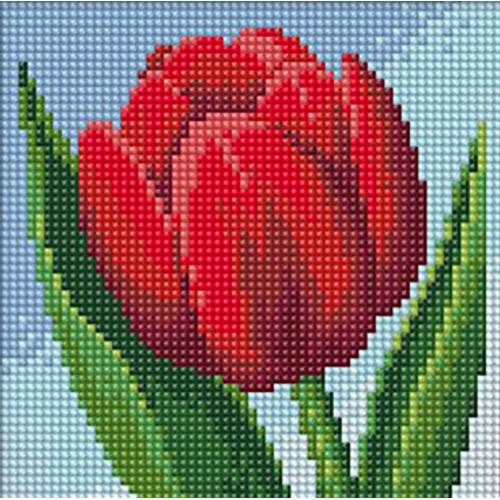M AZ-1634 Diamond painting sada - Tulipán