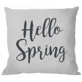Vyšívací sada s povlakem na polštář - Polštář - Hello Spring