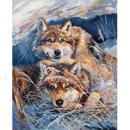 Vyšívací sada - Idylka vlků