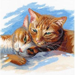 Vyšívací sada - Kočičí štěstí je blízko