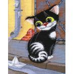 Vyšívací sada - Jarní kočka