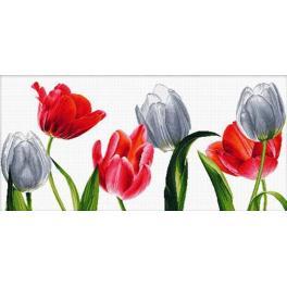 Vyšívací sada - Šest tulipánů