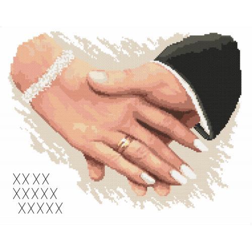 Z 10170 Vyšívací sada - Památka na svatbu - Ruce