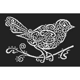 Předloha ONLINE - Krajkový ptáček