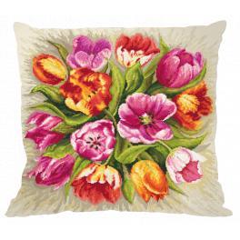 Předloha ONLINE - Polštář - Okouzlující tulipány