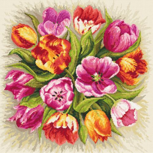Vyšívací sada - Okouzlující tulipány