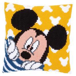 Vyšívací sada - Polštář - Mickey si hraje na schovávanou