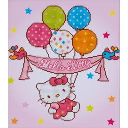VPN-0175278 Diamond painting sada - Hello Kitty s balonky