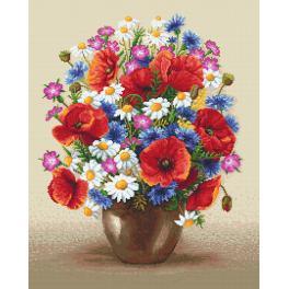 Předtištěná aida - Polní kytice
