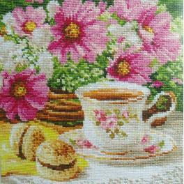 ALI 5-12 Vyšívací sada - Ranní čaj