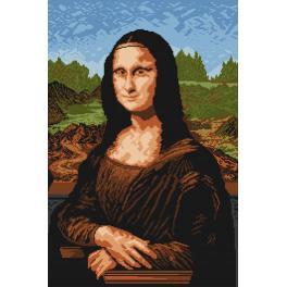 Předtištěná kanava - Mona Lisa - Leonardo da Vinci