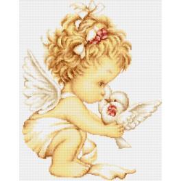 Vyšívací sada - Anděl s holubicí