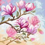 Diamond painting sada - Kvetoucí magnolie