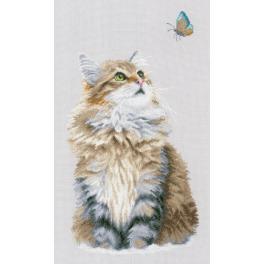 Vyšívací sada - Lesní kočka