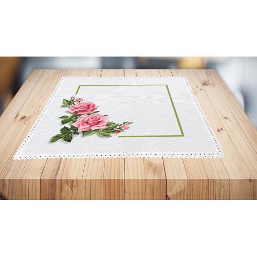 Předloha ONLINE - Ubrousek s růžemi 3D