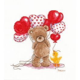 Vyšívací sada - Krásné balónky