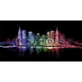 Vyšívací sada - Noční město