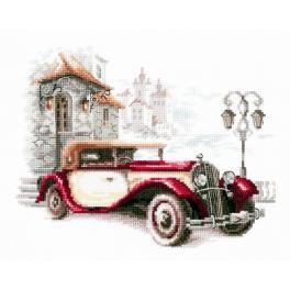 Vyšívací sada - Retro Cadillac