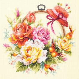 Vyšívací sada - Růže na vyšívání