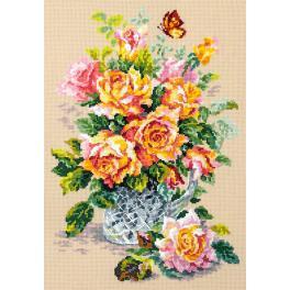 Vyšívací sada - Čajové růže
