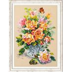 MN 100-021 Vyšívací sada - Čajové růže