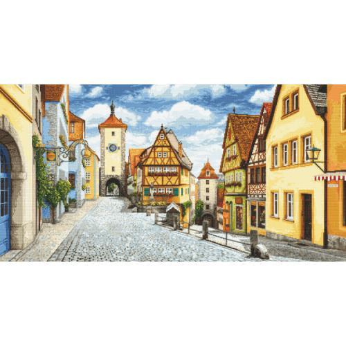Předtištěná kanava - Malebný Rothenburg