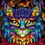 M AZ-1753 Diamond painting sada - Duhová kočka