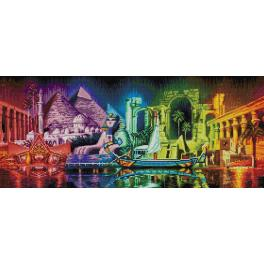 Diamond painting sada - Barvy Egypta