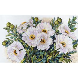 Vyšívací sada - Bílé květy