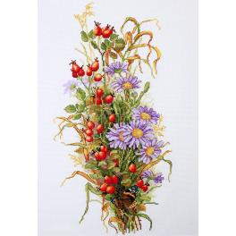 Vyšívací sada - Plody divoké růže