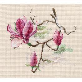 Vyšívací sada - Květy magnólie