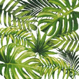 Předtištěná aida - Exotické listy
