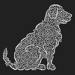 Vyšívací sada - Krajkový labrador