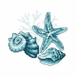 Vyšívací sada - Mořské mušle II